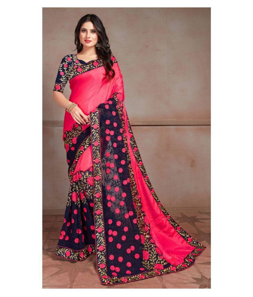 Darshita International Pink Silk Saree