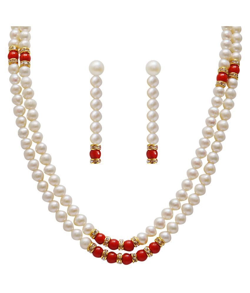 sharma pearls and jewellers Multi Color Other Designer Necklaces Set
