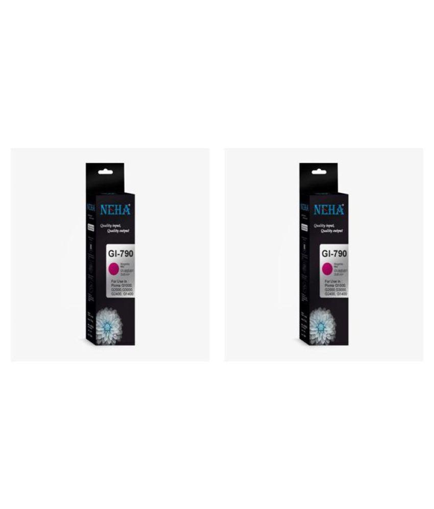 Neha GI790 MAGENTA Magenta Pack of 2 Ink bottle for CANON PIXMA G1000,G2000,G3000,G2400,G1400