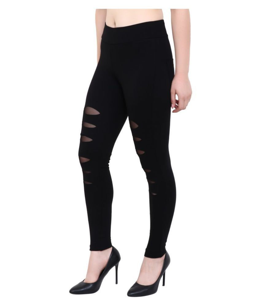 ANARA FASHION Cotton Jeggings - Black