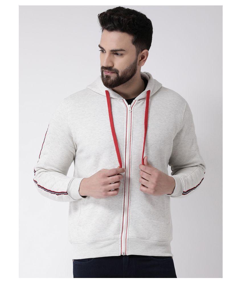 Club York White Hooded Sweatshirt