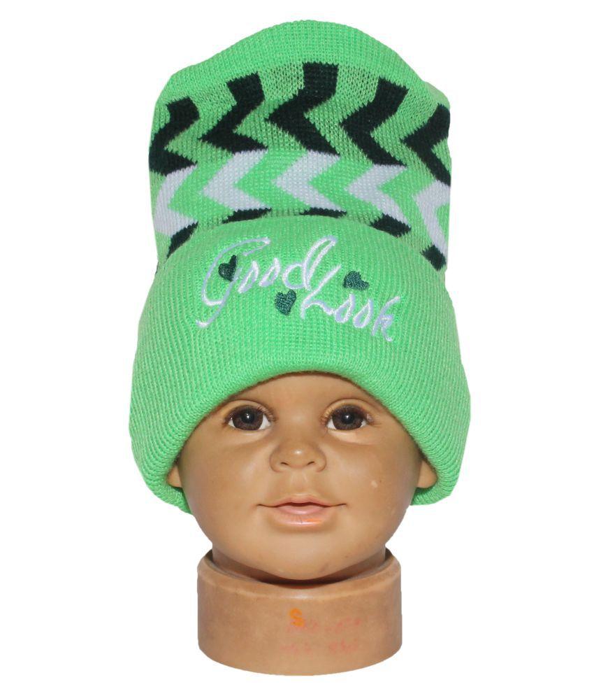 Goodluck Baby Winter Cap (Green)