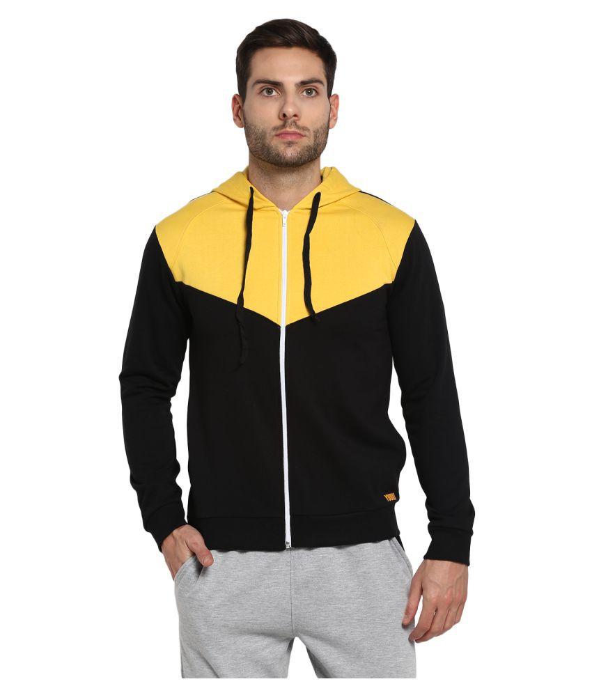 YUUKI Black Polyester Fleece Sweatshirt