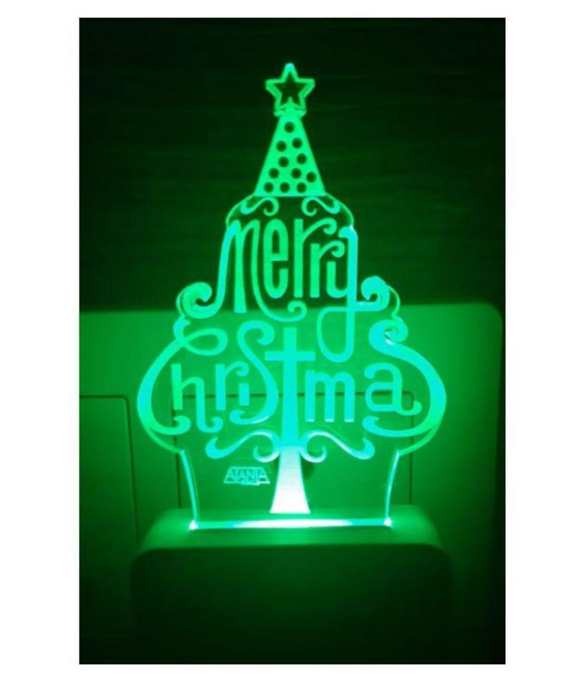 SUPER AJANTA Merry Christmas 2176 3D Night Lamp Multi - Pack of 1
