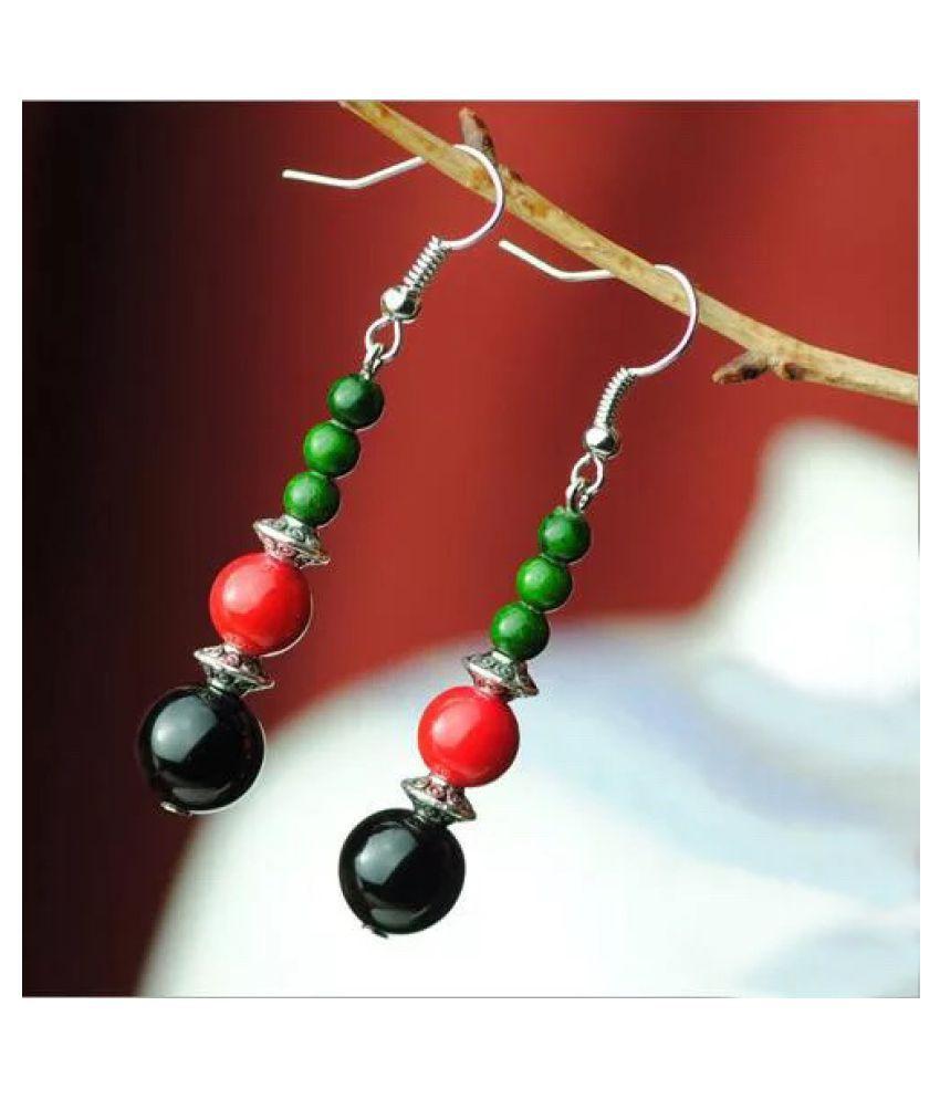 MIZORRI Natural stone bead Ethnic Style Vintage Drop Earrings