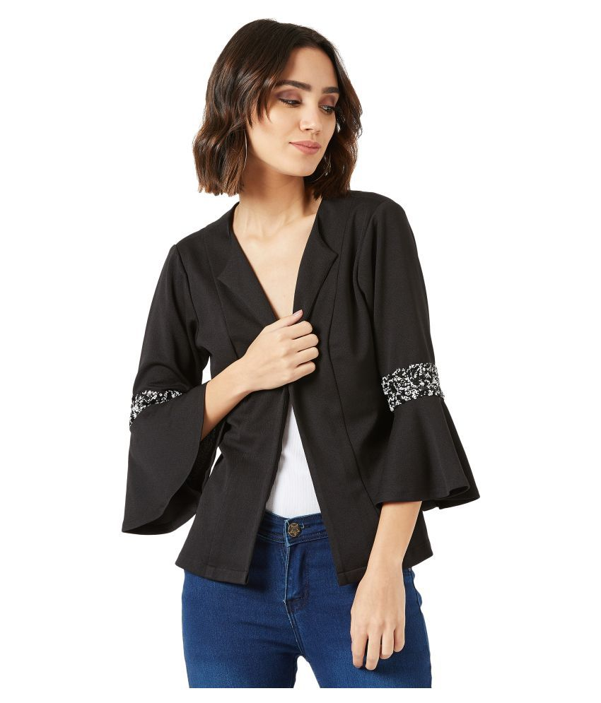 Miss Chase Polyester Black Jackets
