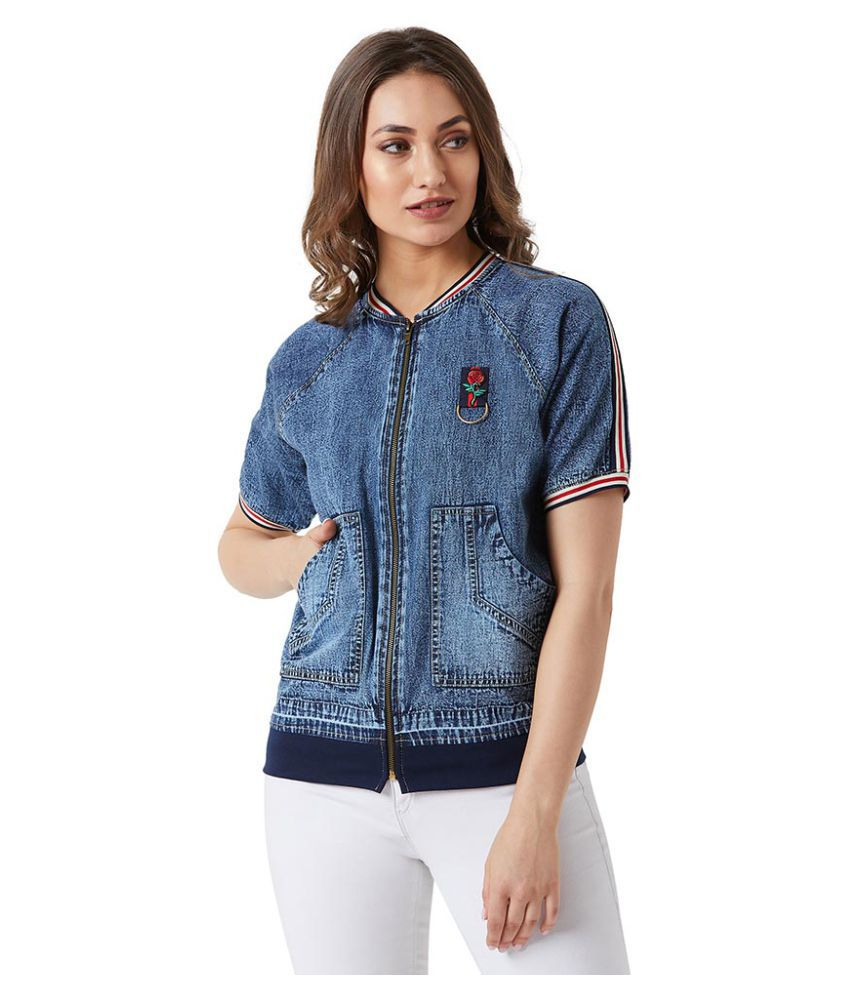 Miss Chase Cotton Navy Bomber Jackets