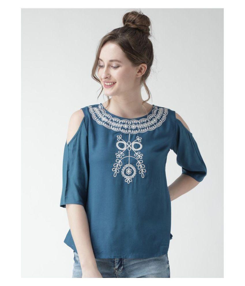 Bombay Clothing Company Cotton Regular Tops - Blue