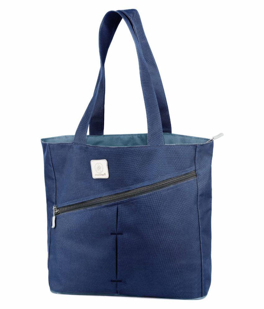 Montesh Blue Polyster Shoulder Bag