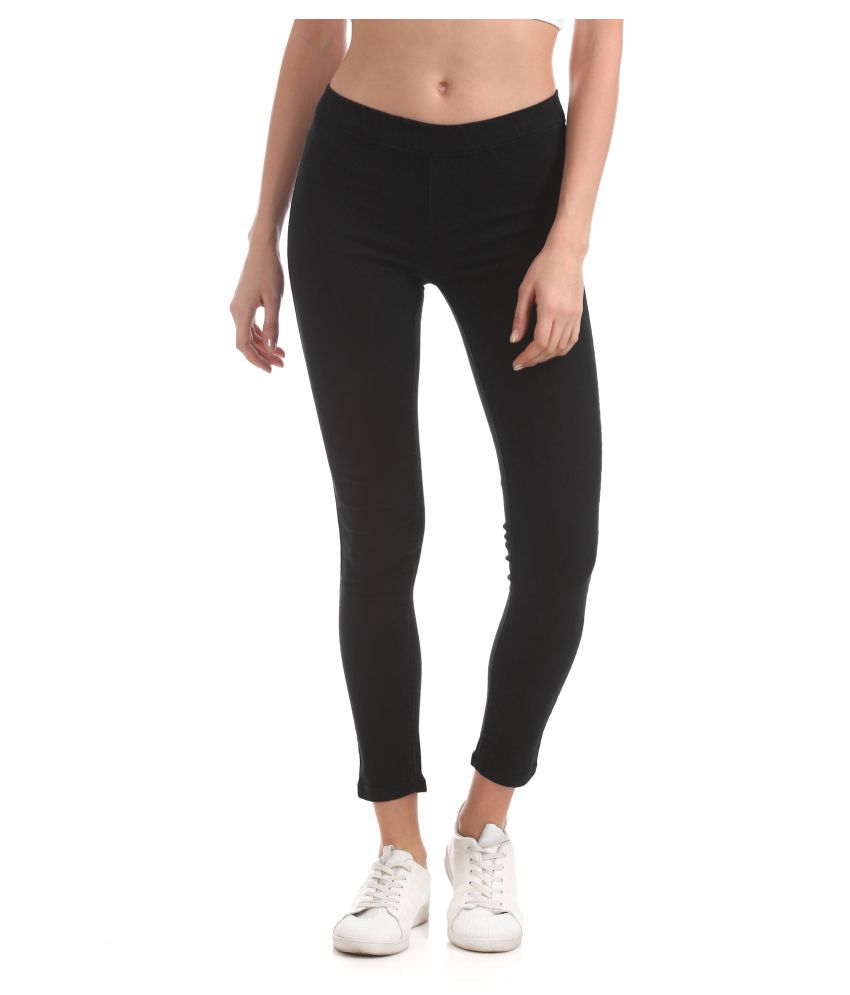 Cherokee Cotton Jeggings - Black