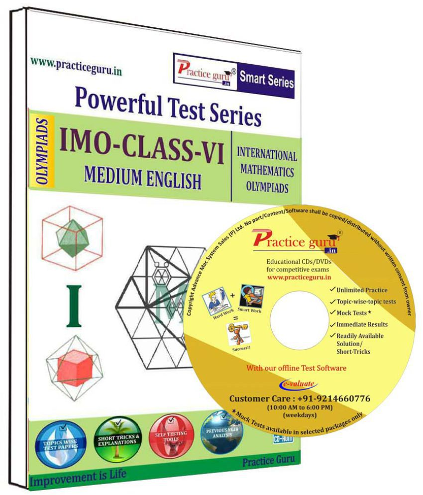 Practice Guru 28 Test 5 Mock Test,10 Previous Year Paper  for 6 Class IMO Exam  CD