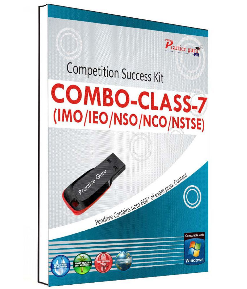 Practice Guru 70 Test 10 Mock Test,10 Previous Year Paper,50 Worksheet Class 6 (IMO,IEO,NSO,NCO,NSTSE) Pen Drive
