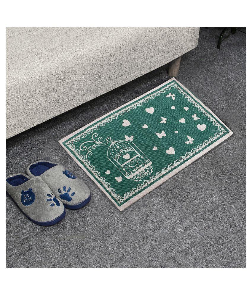 Fashion Art Green Single Anti-skid Floor Mat