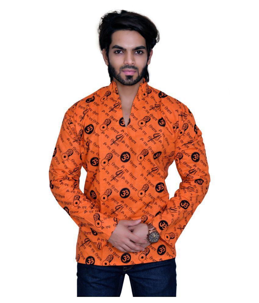 Balaji Garments Orange Cotton Kurta