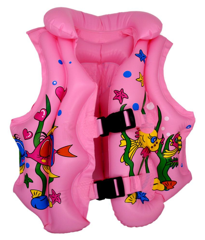 EZ Life Inflatable Body Vest Float for Swimming - Pink - Mermaid - Small - 1 Pc - Age 1-3 Years
