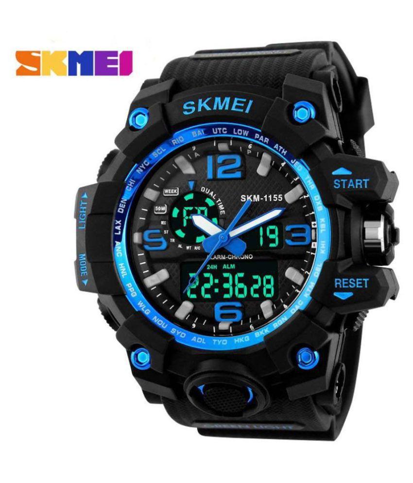 Skmei Skmei GWWG061 PU Analog Digital Men #039;s Watch