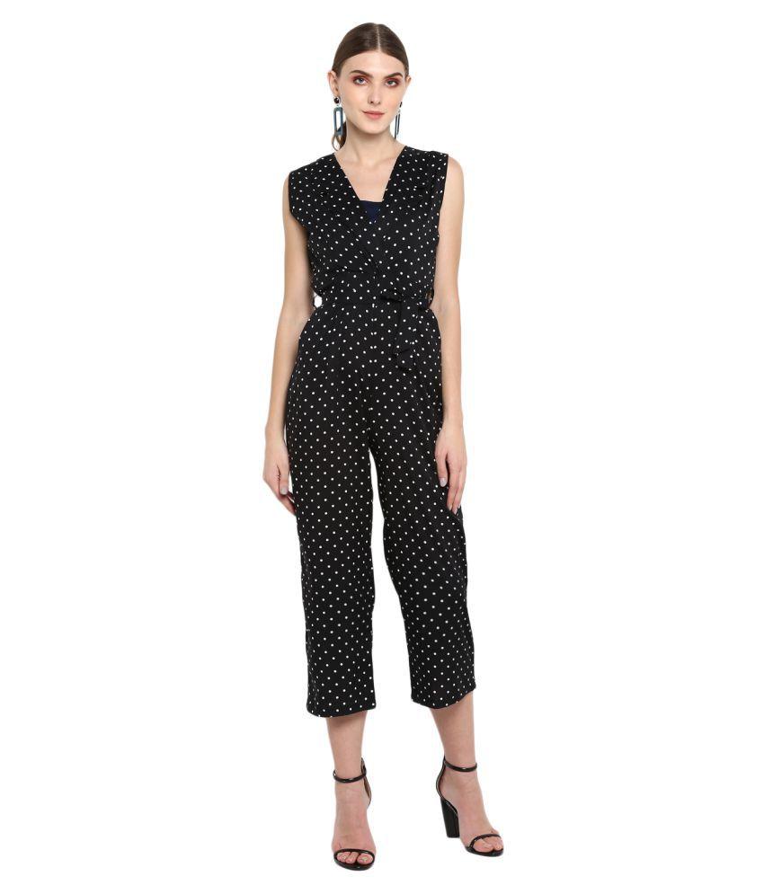 Trendy Divva Black Polyester Jumpsuit