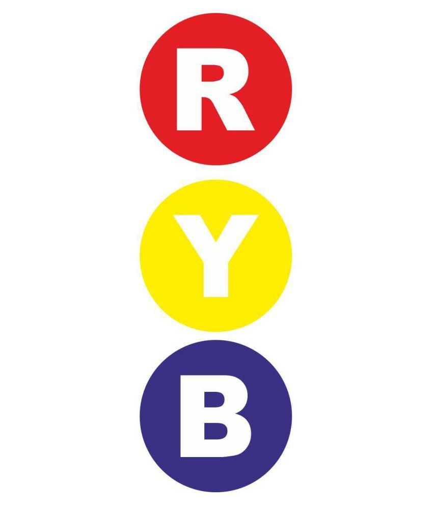 R Y B Electrical Round Sticker  Pack of 10