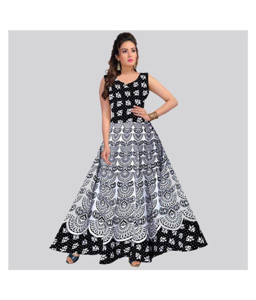 Rangun Cotton Black A- line Dress
