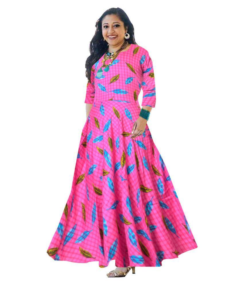 JWF Rayon Pink Cut Out Dress