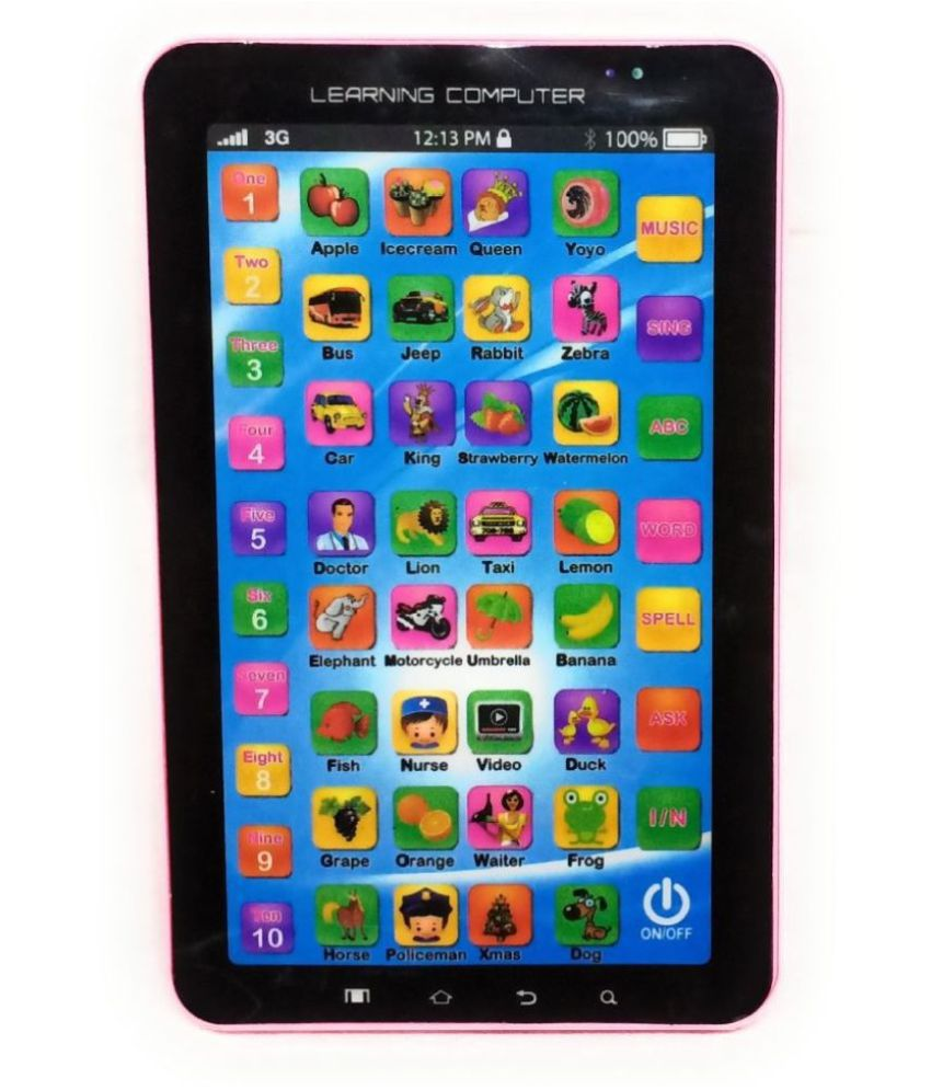 Educational Learning Tablet Toy for Kids with Music & Sound Like ABCD