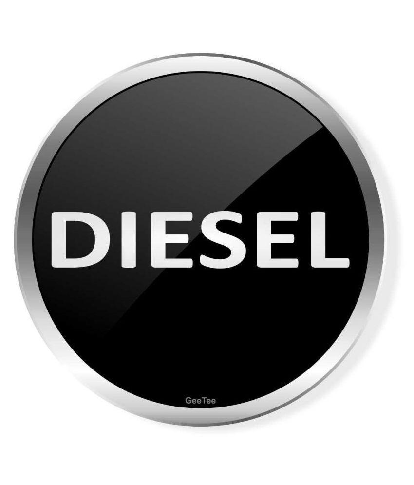 GeeTee Designs Fuel tank In Car Sticker Black