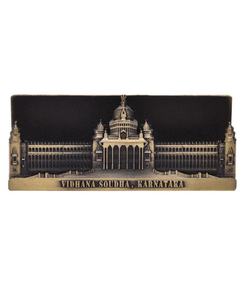 Hazzlewood Vidhana soudha brass card holder stand pack of one