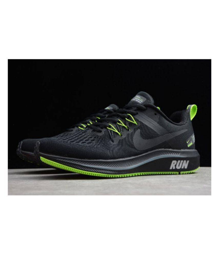 Nike STRUCTURE Black Running Shoes