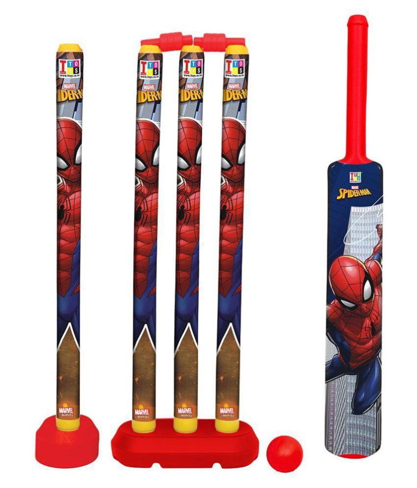yatri creation  GG Group Marvel Spiderman Cricket Set for Kids (Multicolour)
