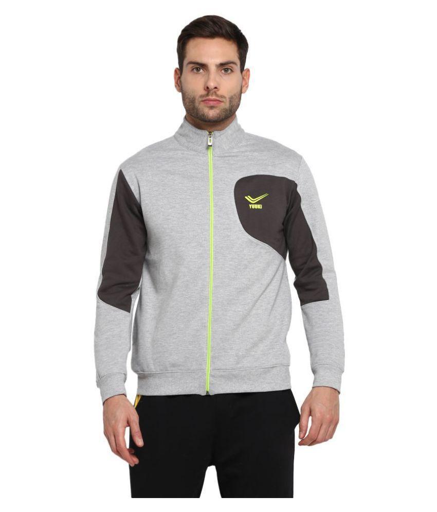 YUUKI Grey Polyester Fleece Jacket