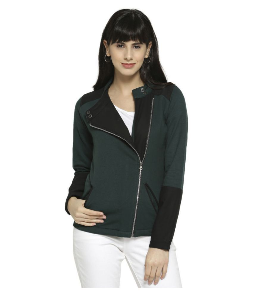 Campus Sutra Cotton Green Jackets