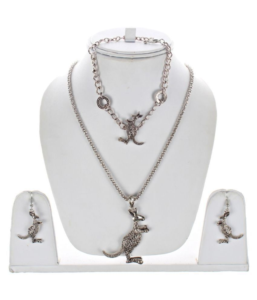 LUCKY JEWELLERY Alloy Silver Contemporary/Fashion Oxidised