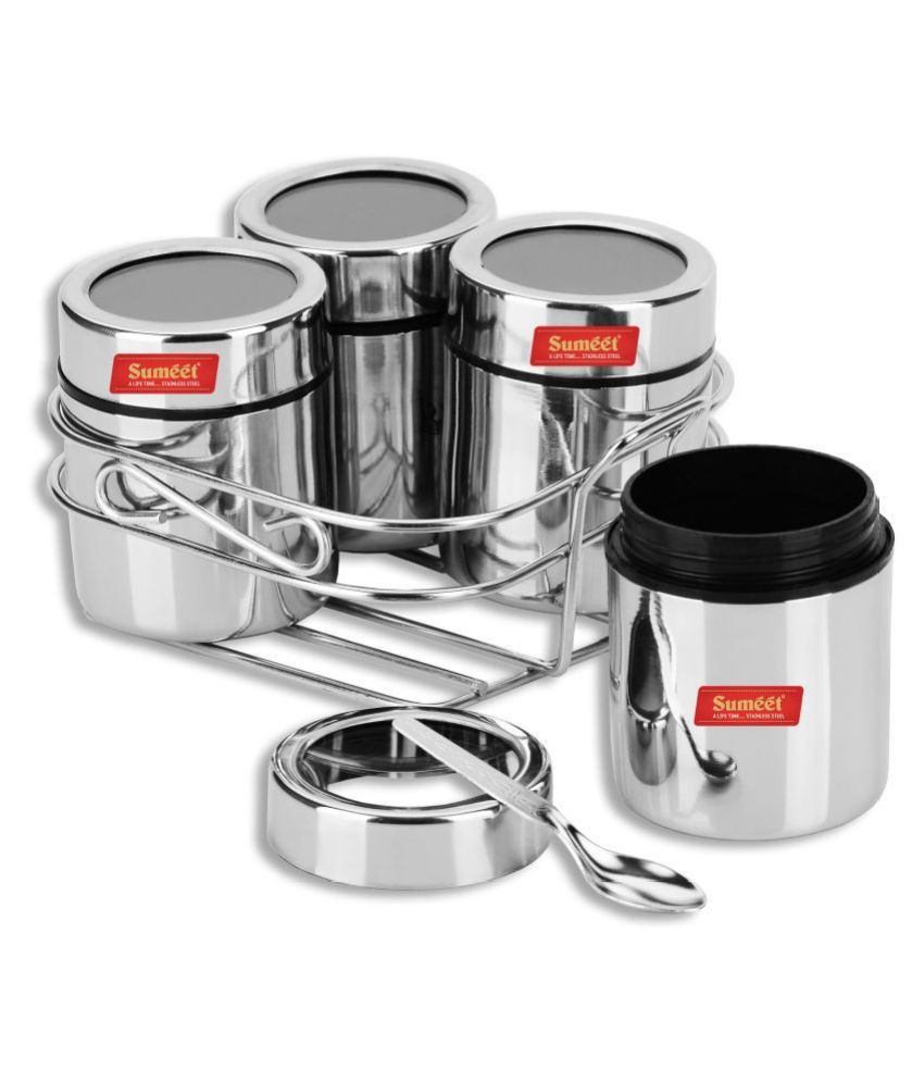 Sumeet Stainless Steel Spice Container Set of 5 200 mL