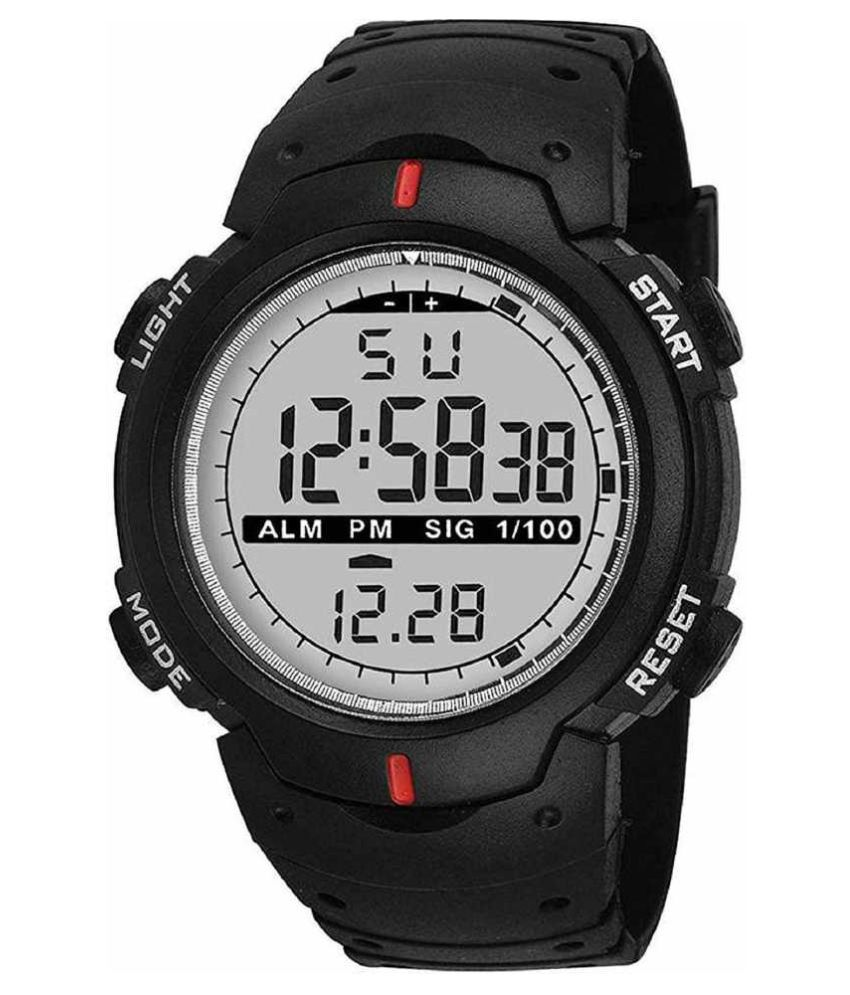 LOGME army military sports Fabric Digital Men's Watch