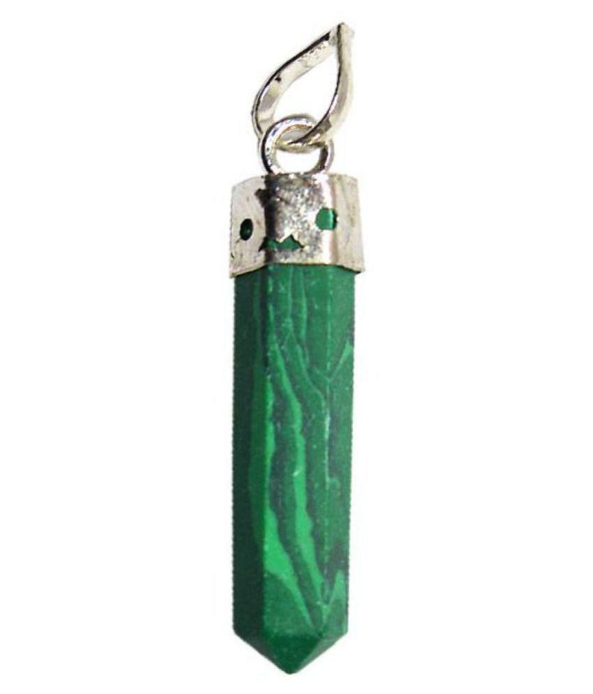 Green Malachite Natural Agate Stone Pencil Pendant