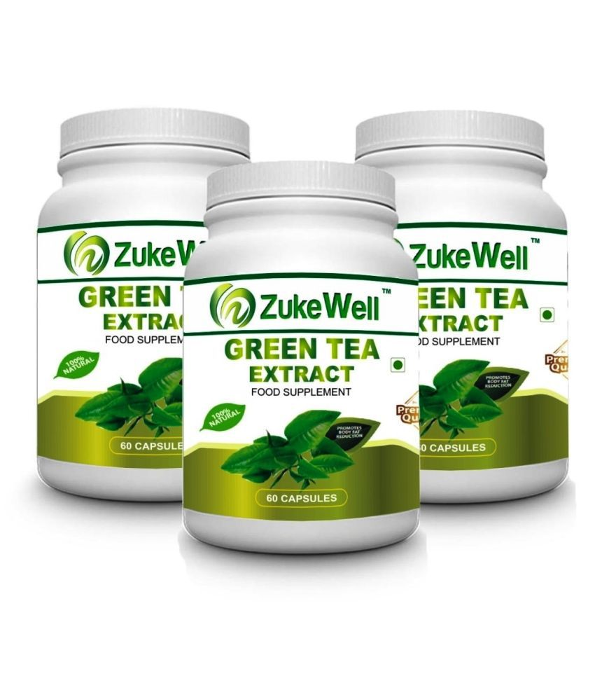 zukewell Green Tea Extract 500 mg Fat Burner Capsule Pack of 3