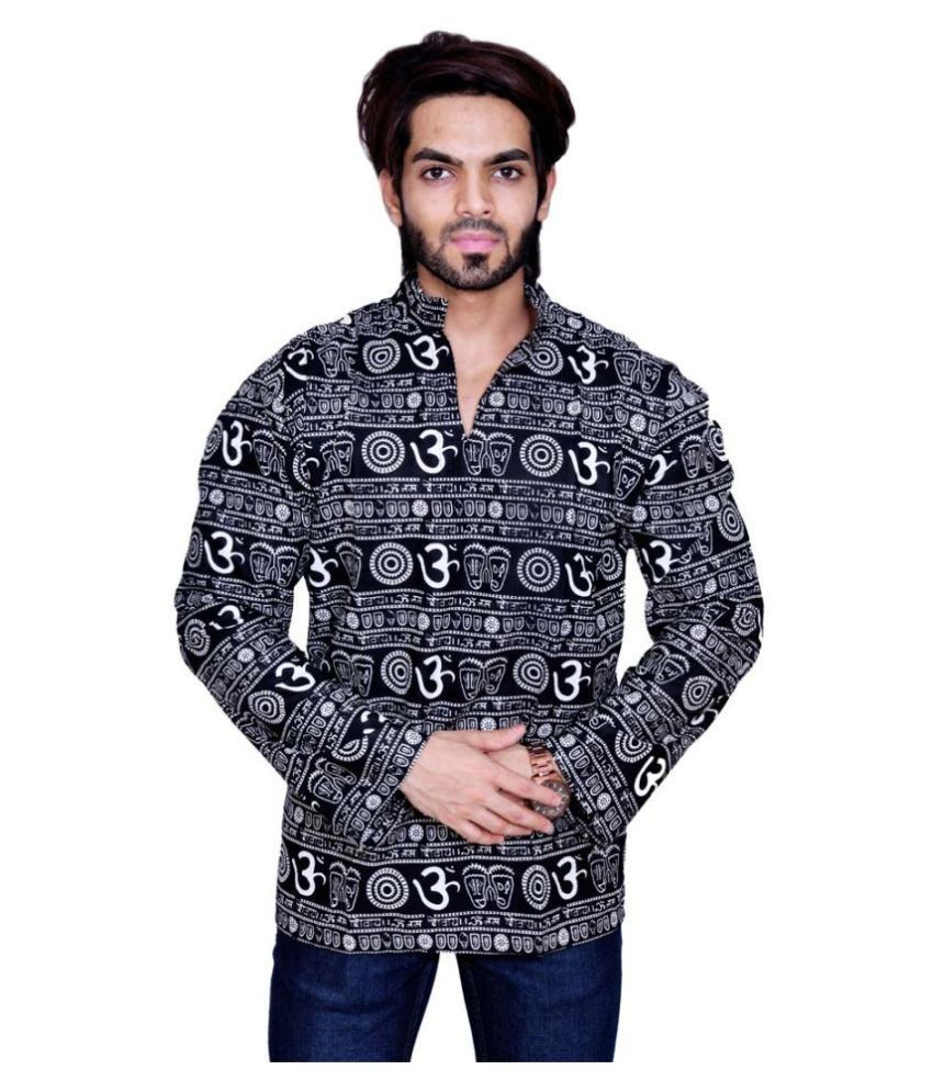 Balaji Garments Black Cotton Kurta