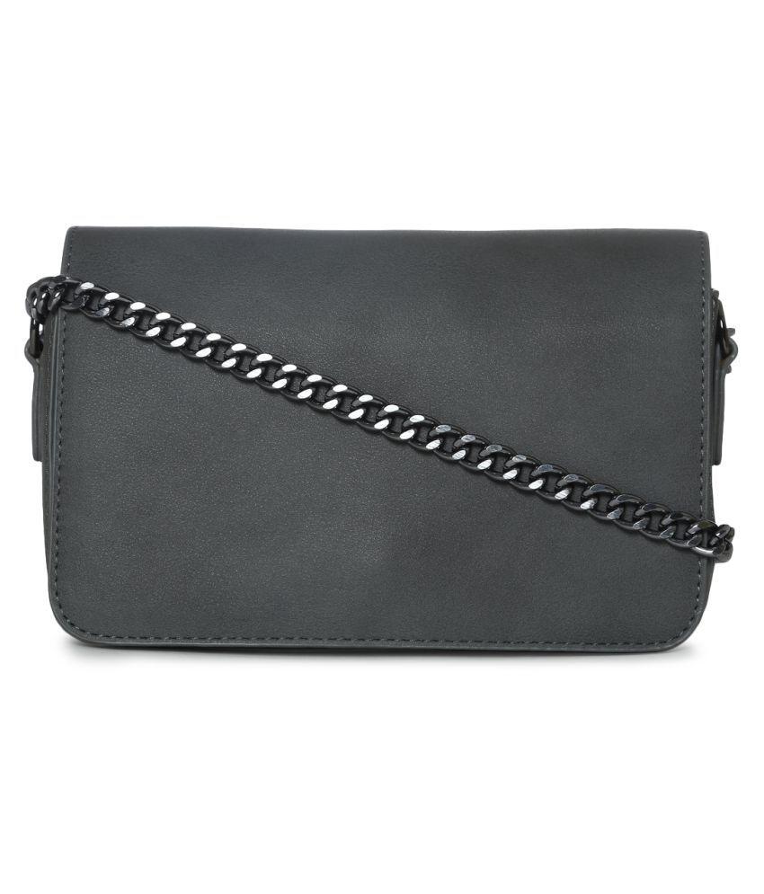 Truffle Collection Gray P.U. Sling Bag