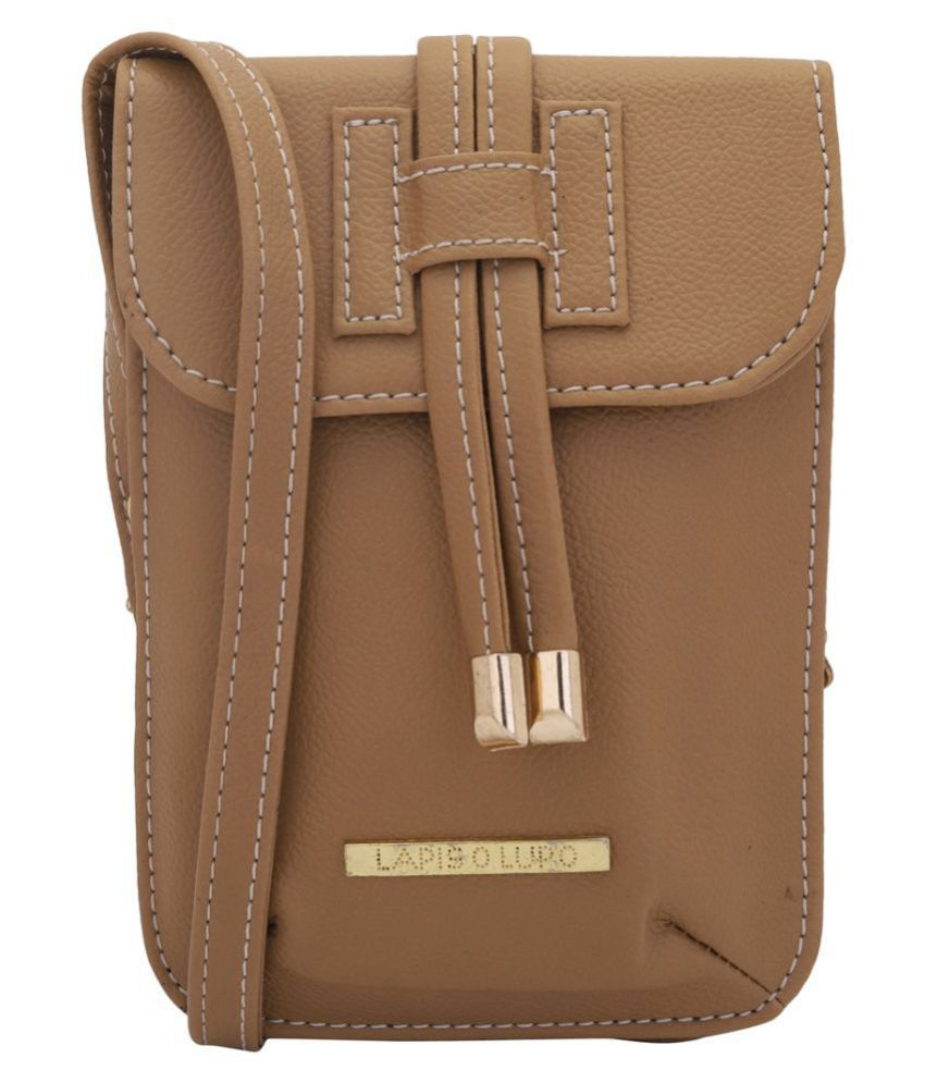 Lapis O Lupo Beige Faux Leather Sling Bag