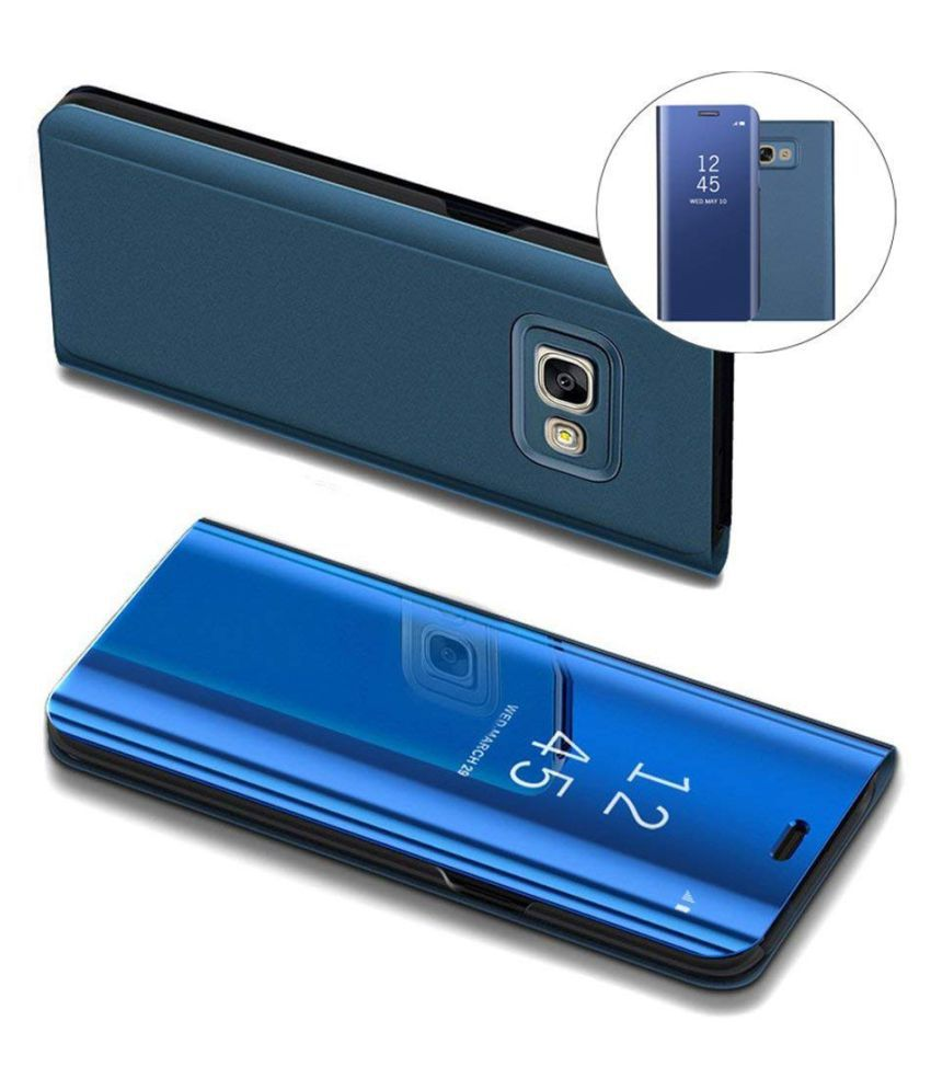 Vivo V15 Flip Cover by BeingStylish - Blue Luxury Mirror Flip Cover