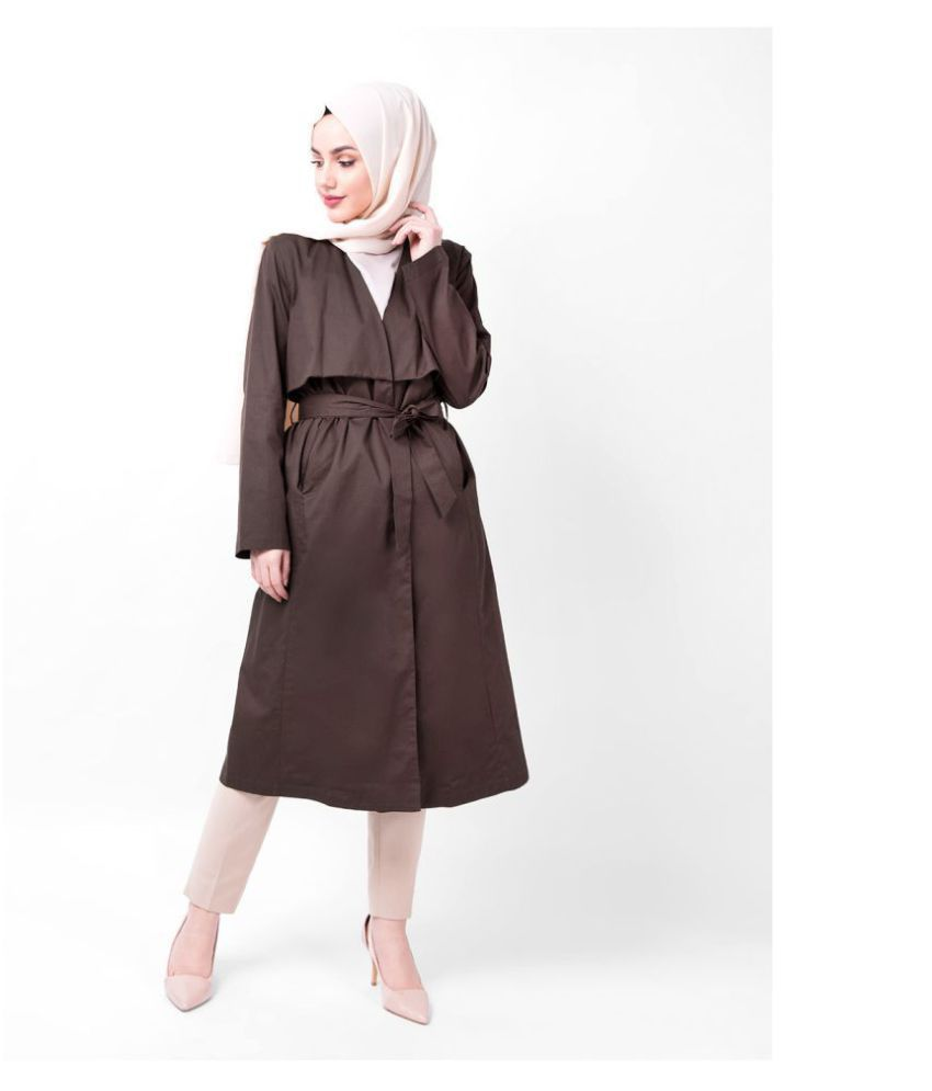 Silk Route London Cotton Brown Trench Coats