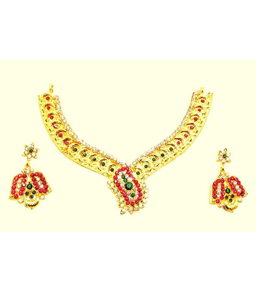 Shopezzz Bazaar Golden Jewel Set for Women