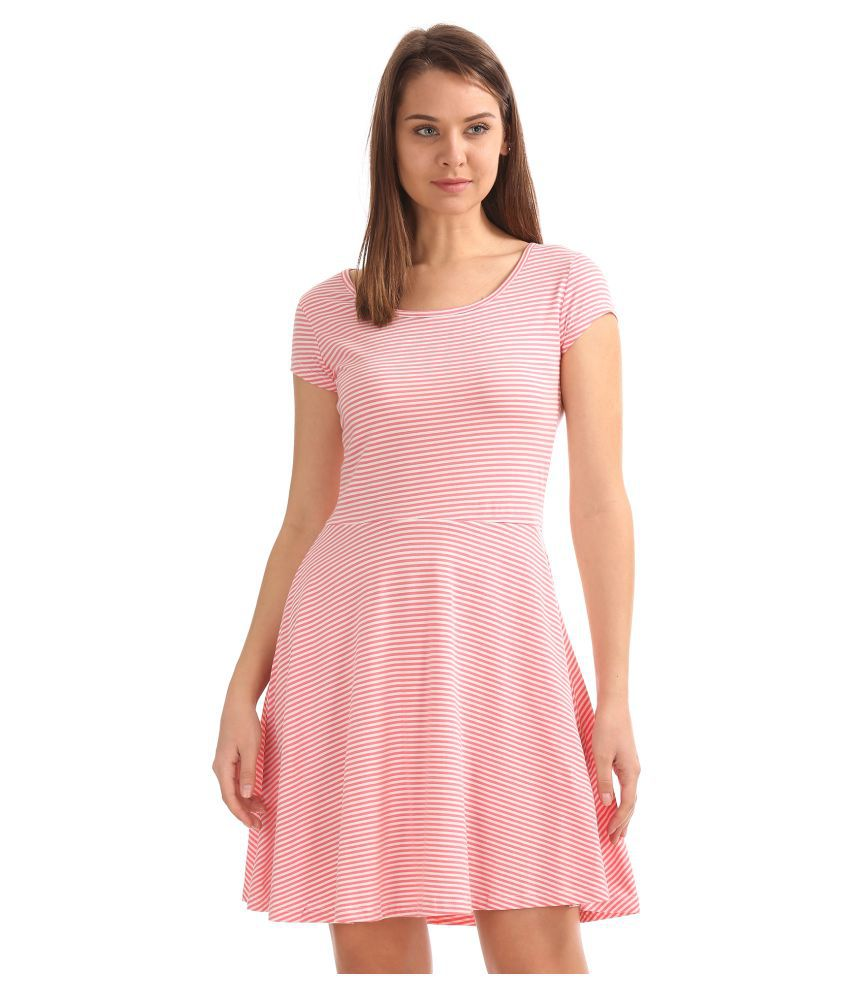 Sugr Cotton White Skater Dress