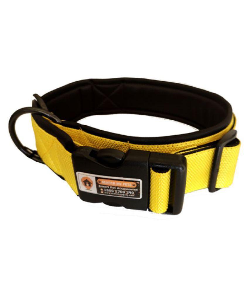 Yellow Color Smart Dog Collar Belt