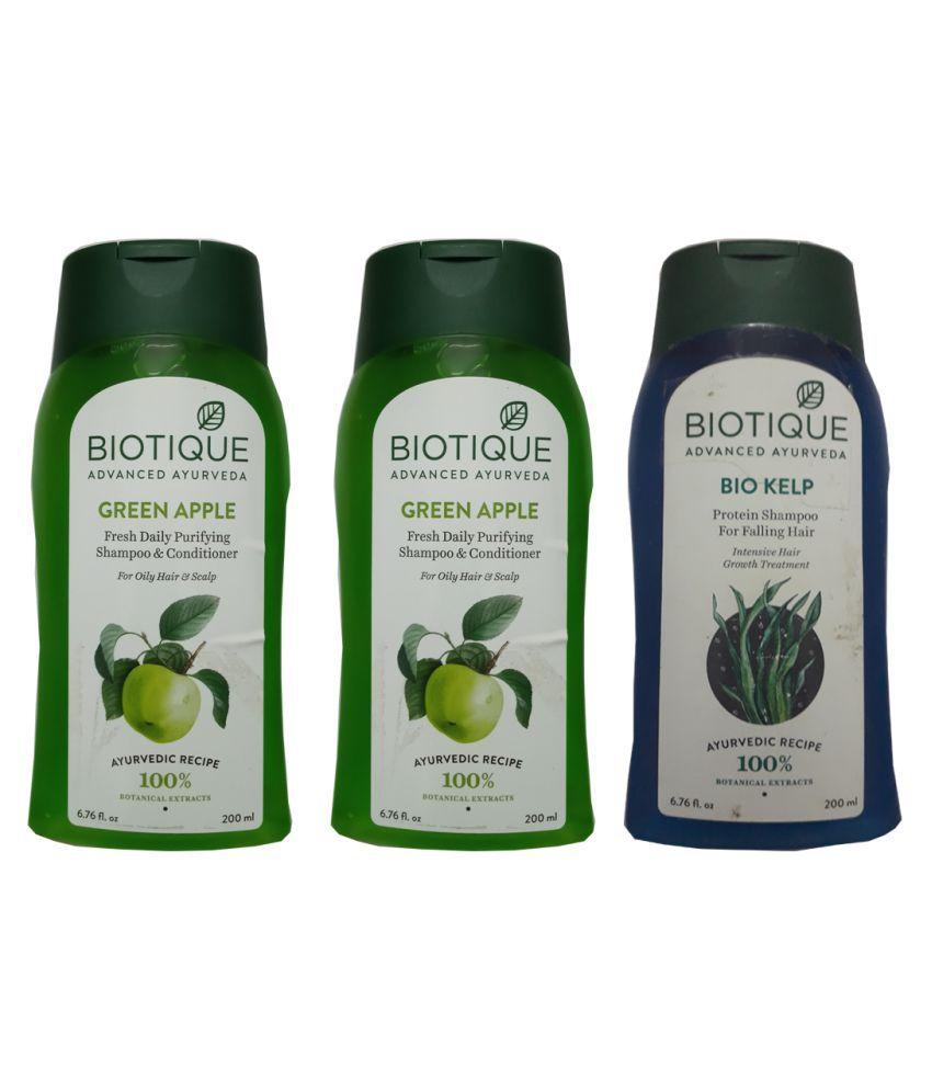 Biotique Shampoo + Conditioner mL Pack of 3