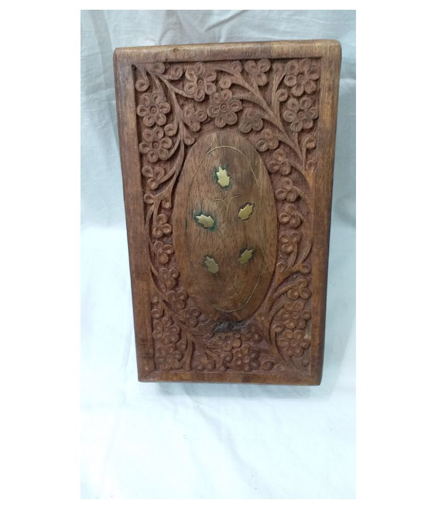 Viransh Handcrafted  Multipurpose Wooden Jewellery and Makeup box B105f