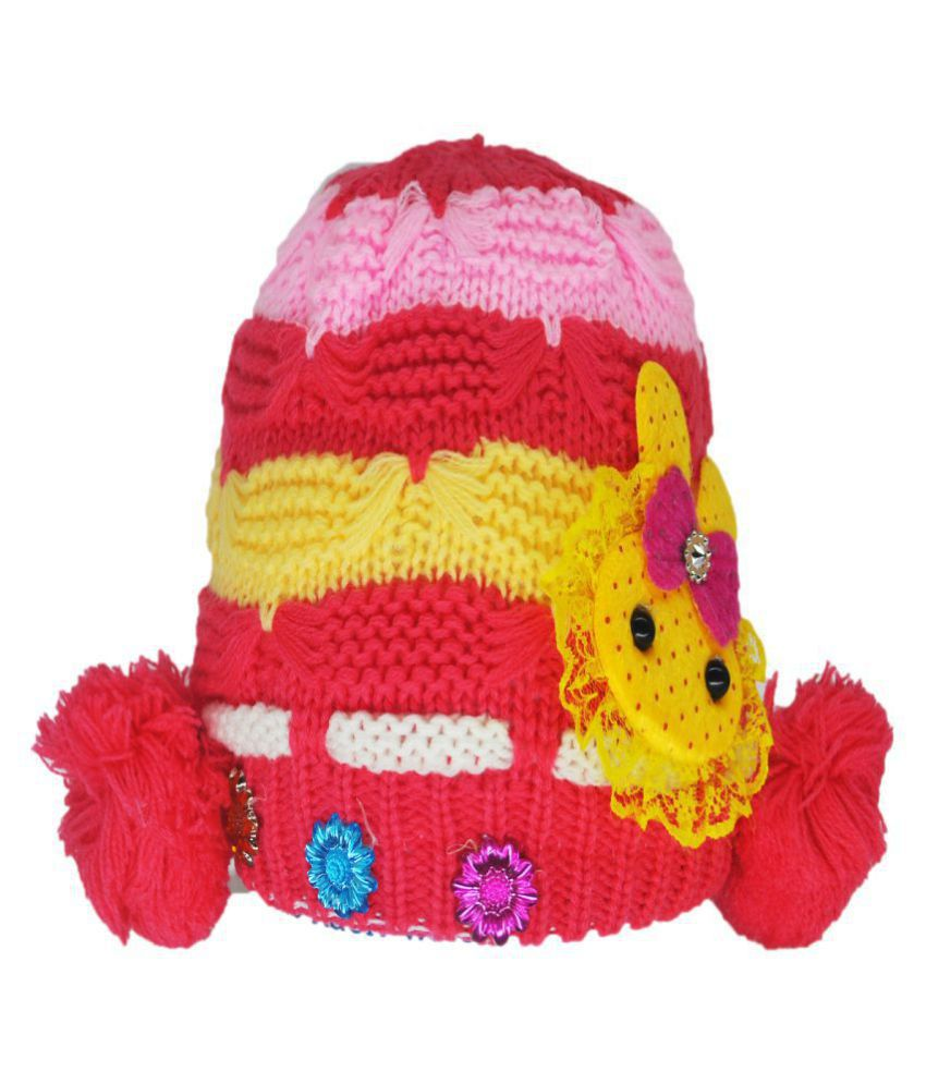 Kids Winter Cap / Woolen Cap ( Peach )