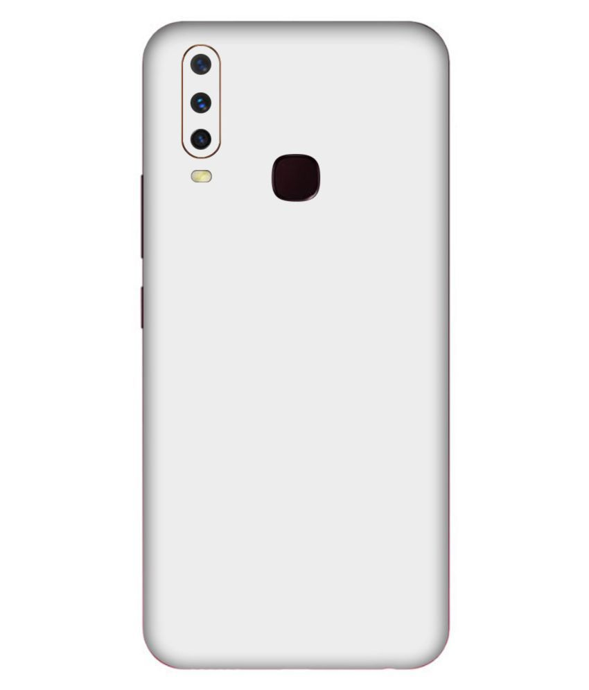 Vivo Y15 Designer Sticker By Leo Power Matte Finish White