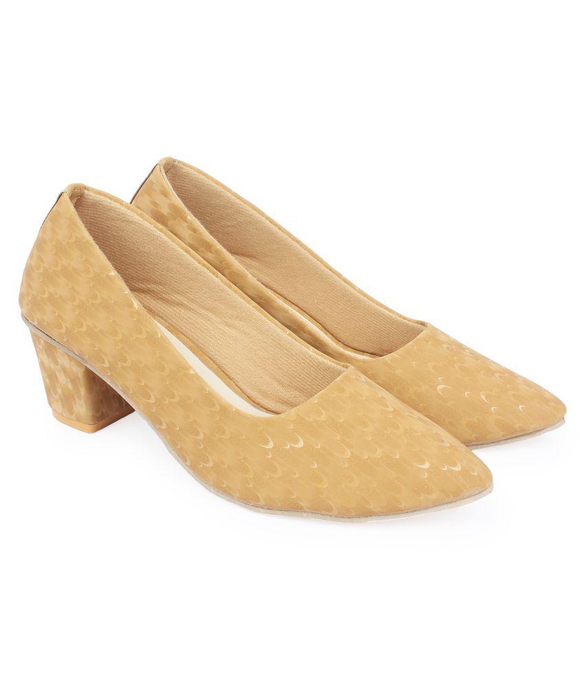 Vunik Gold Block Heels