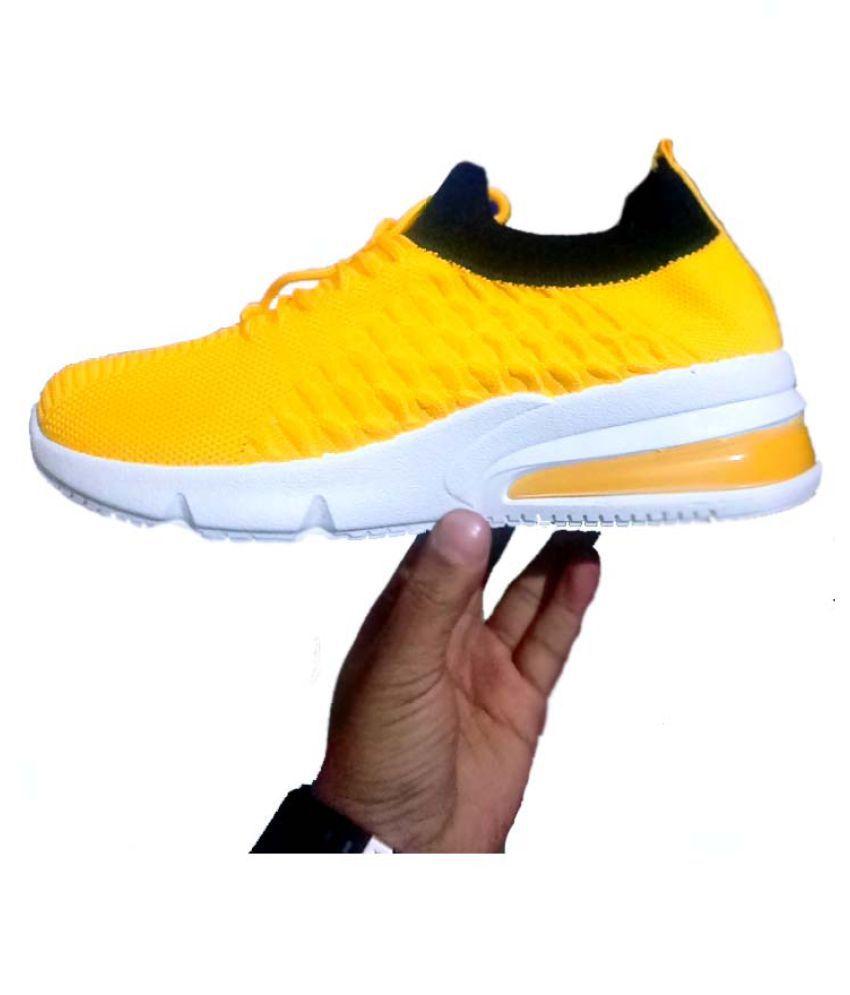 Buy Women Shoes Sneakers Yellow Casual